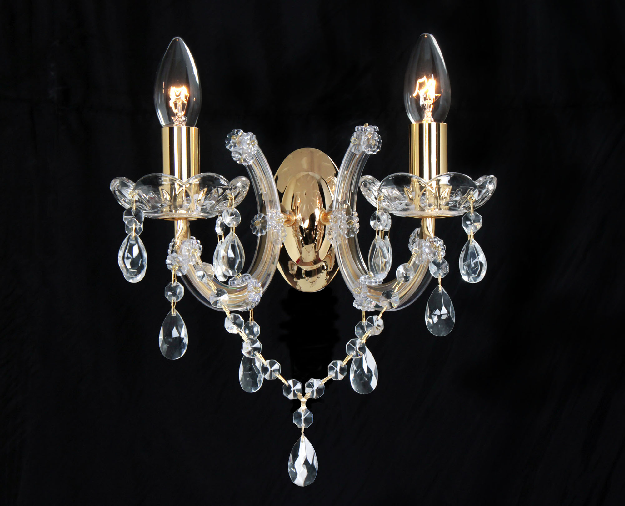 Gabrielle Crystal Wall Lights Deco Traditional Crystal Wall Lights