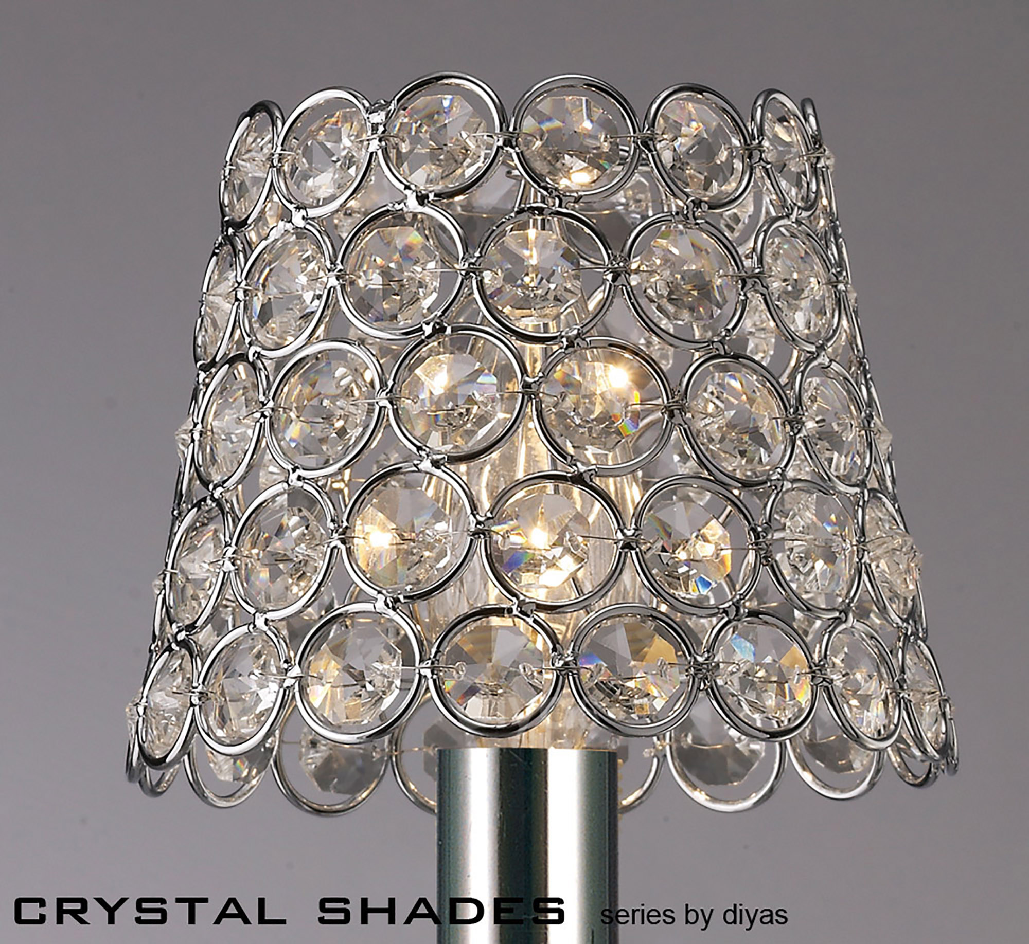 Crystal Ring Shade Glass Crystal Shades Diyas Clip-On Shades