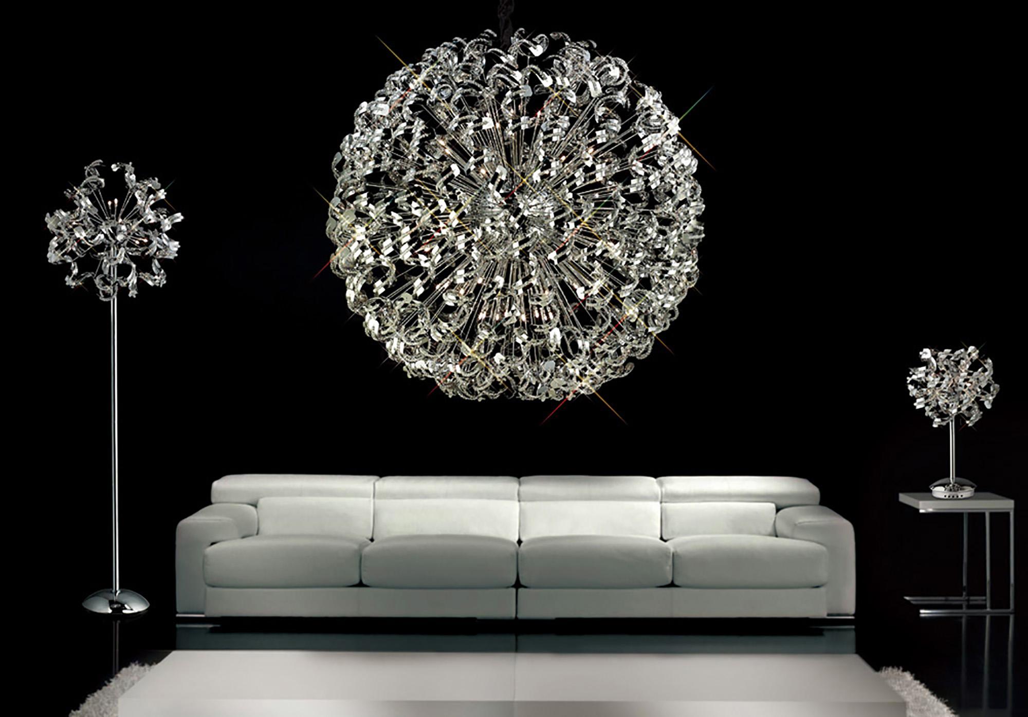 Esme Crystal Ceiling Lights Diyas Modern Chandeliers