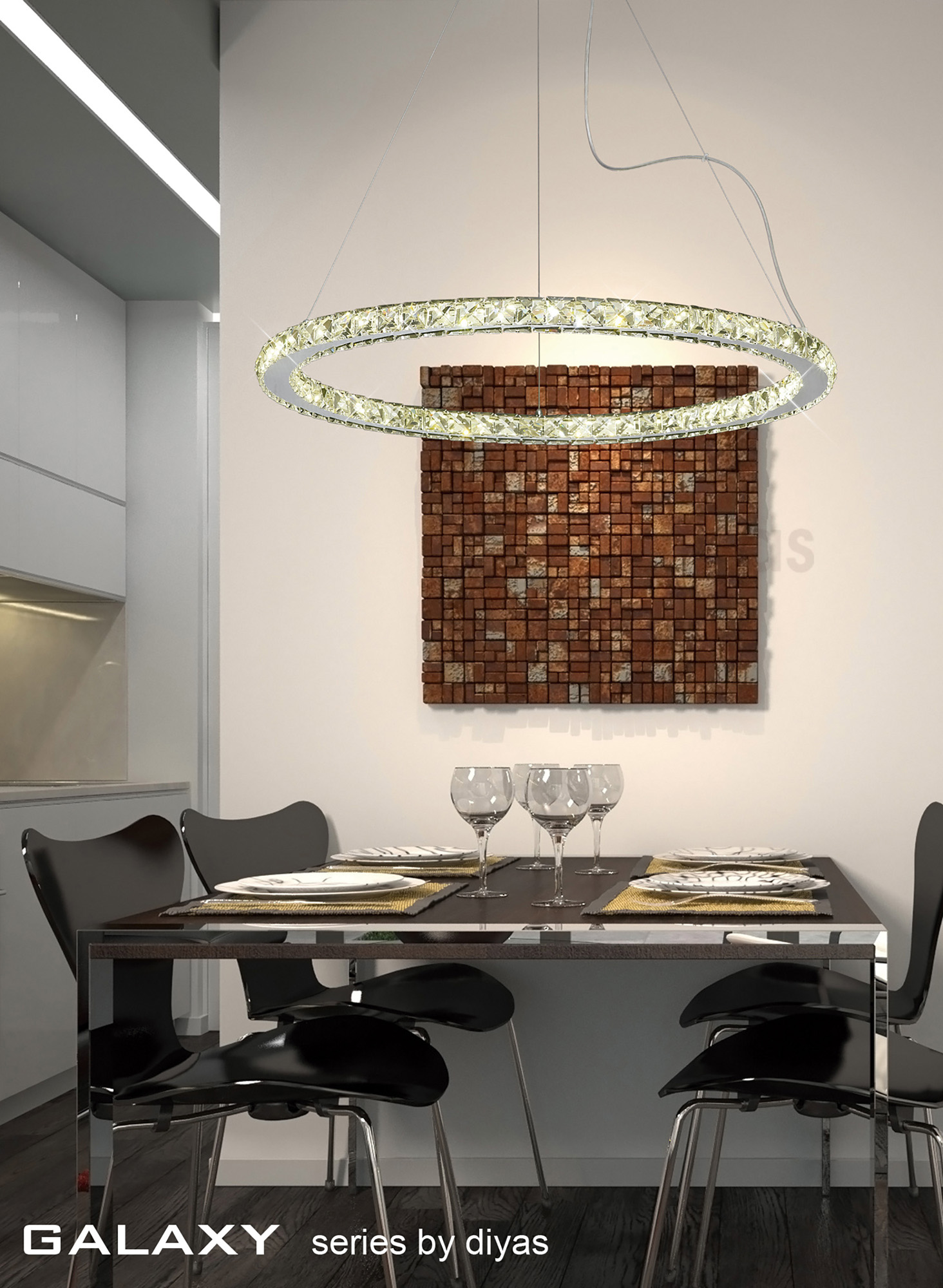 Galaxy Crystal Wall Lights Diyas Flush Crystal Wall Lights