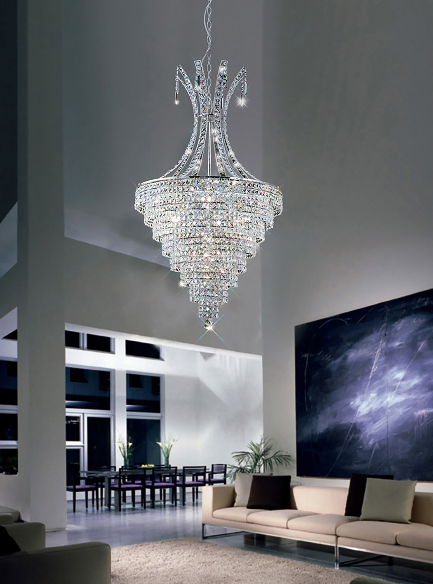 Kanya Crystal Ceiling Lights Diyas Modern Chandeliers