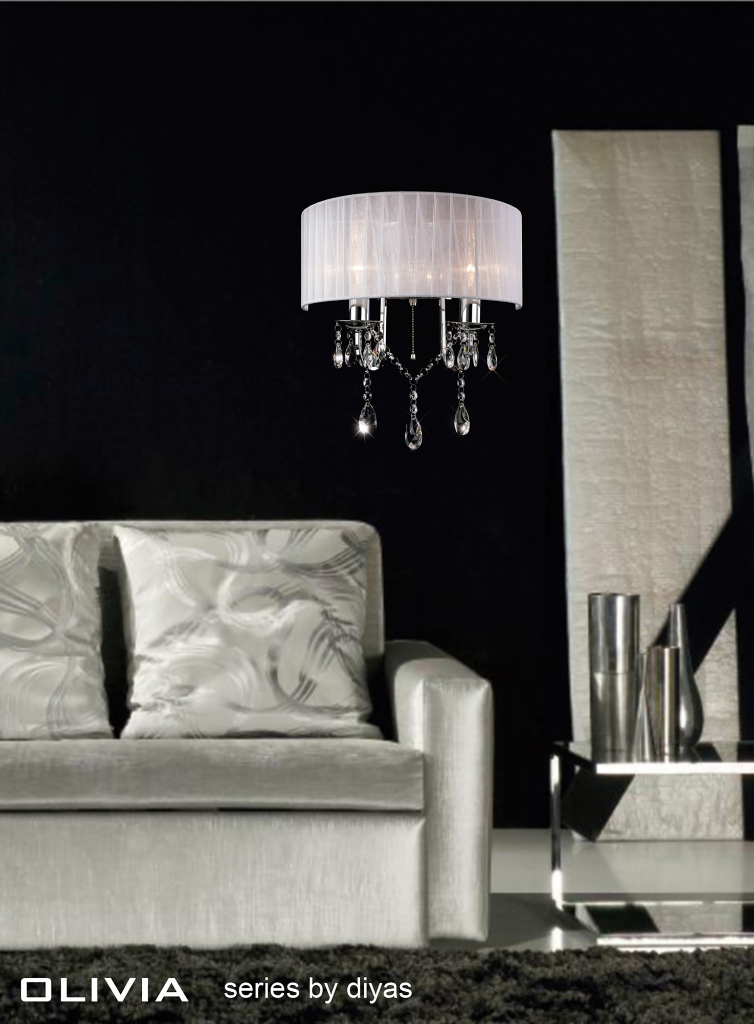 Olivia Crystal Floor Lamps Diyas Contemporary Crystal Floor Lamps