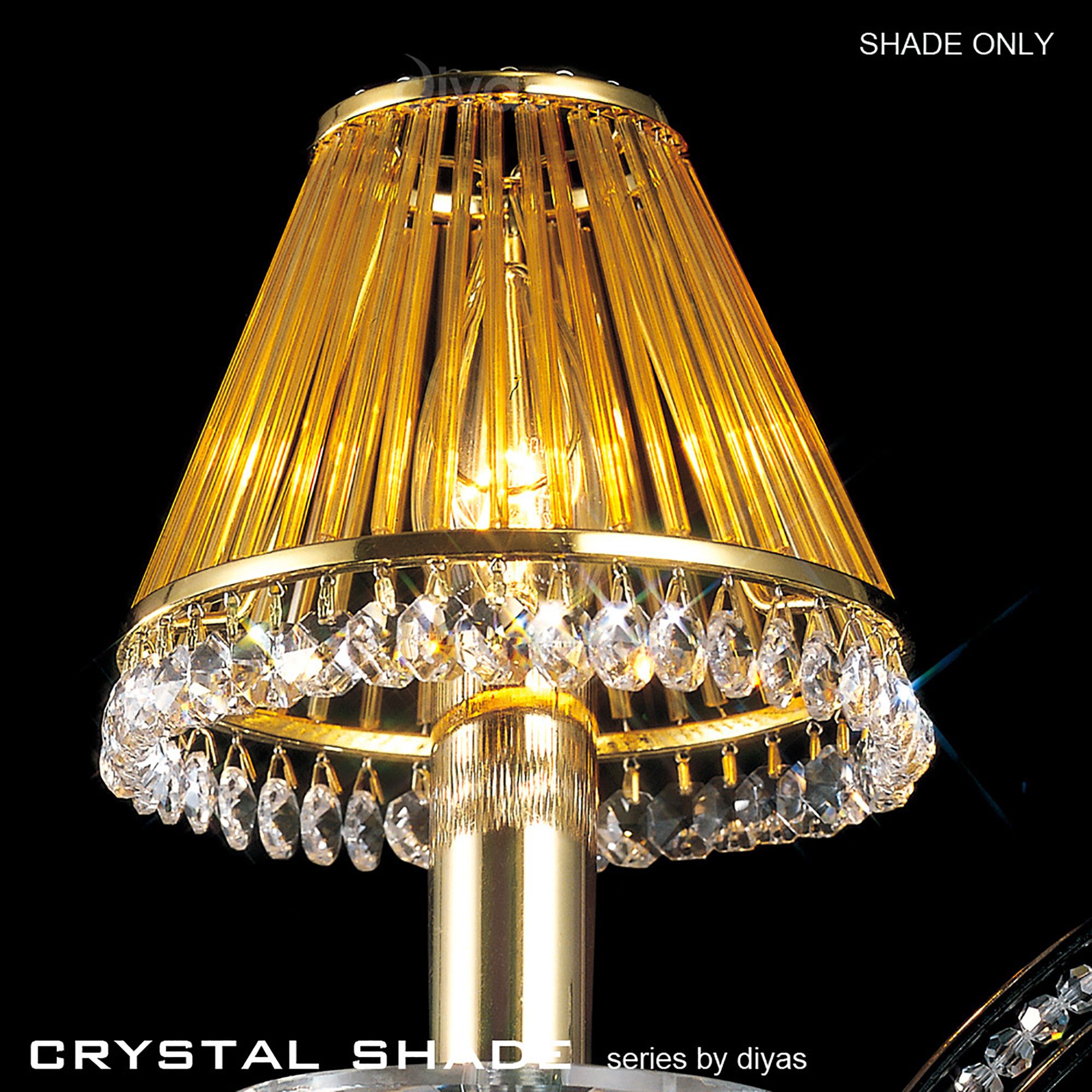 Crystal Shades Glass Crystal Shades Diyas Clip-On Shades