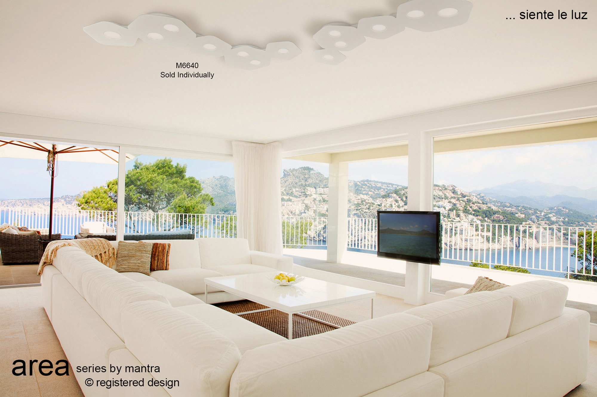 Area Ceiling Lights Mantra Flush Fittings
