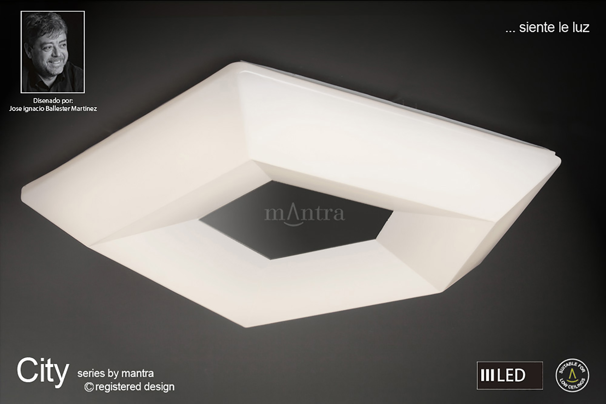 City Ceiling Lights Mantra Flush Fittings