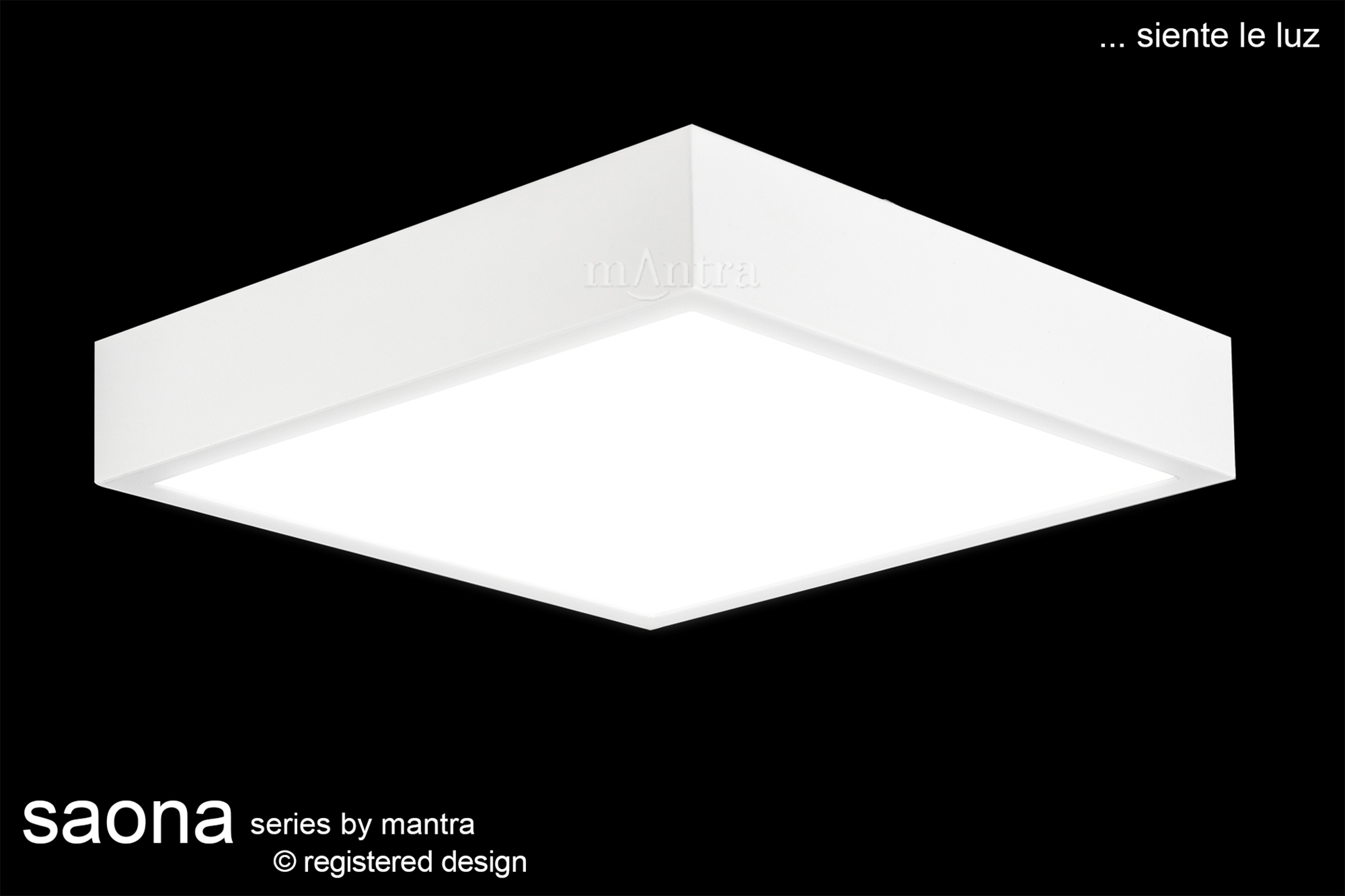 Saona Recessed Ceiling Luminaires Mantra Fusion Square/Rectangular Recess Ceiling