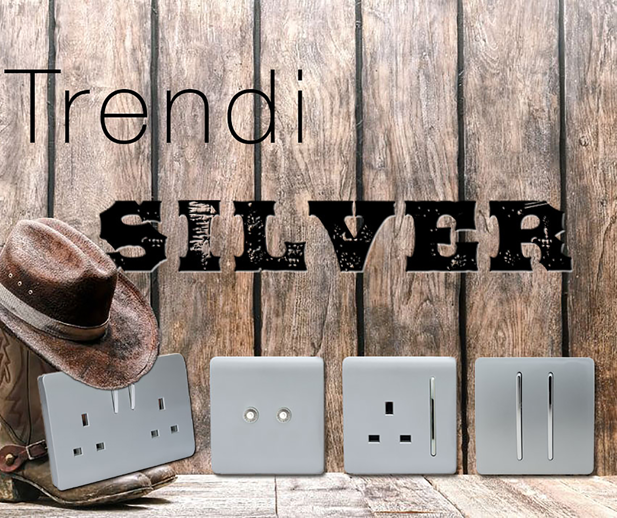 Trendi Silver Wiring Accessories Trendi Decorative Screwless