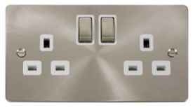 Define Brushed Stainless Steel Wiring Accessories Click Flat Plate