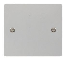 Define Polished Chrome Wiring Accessories Click Flat Plate