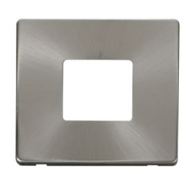 Definity Front Plate Brushed Steel Wiring Accessories Click Decorative Screwless