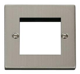 Click Deco Stainless Steel 2 Gang 2 Way Switch VPSS412BK