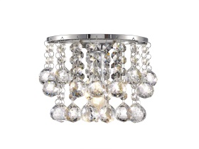 Acton Crystal Wall Lights Deco Contemporary Crystal Wall Lights