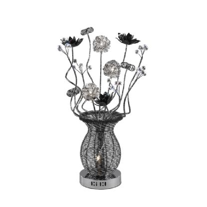 Calista Aluminium Crystal Table Lamps Diyas Home Modern Crystal Table Lamps