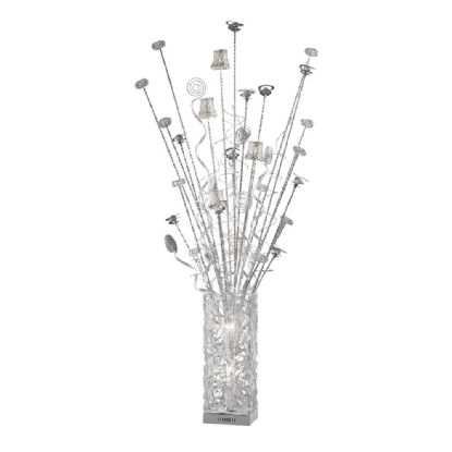 Koil Aluminium Crystal Floor Lamps Diyas Home Modern Crystal Floor Lamps