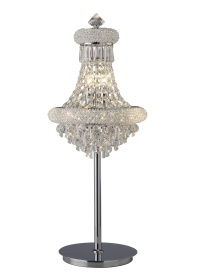 Alexandra Crystal Table Lamps Diyas Contemporary Crystal Table Lamps
