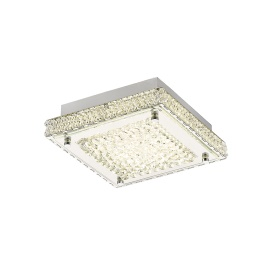Amelia Crystal Ceiling Lights Diyas Flush Crystal Fittings