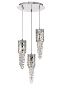 Camden Crystal Ceiling Lights Diyas Multiple Crystal Pendants
