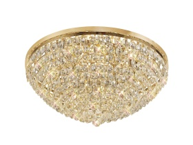 Coniston Crystal Ceiling Lights Diyas Flush Crystal Fittings