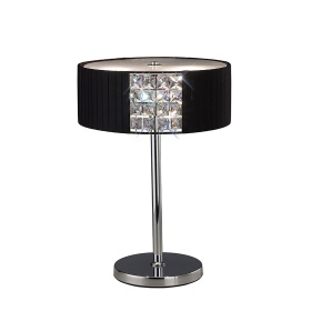 Evelyn Crystal Table Lamps Diyas Contemporary Crystal Table Lamps