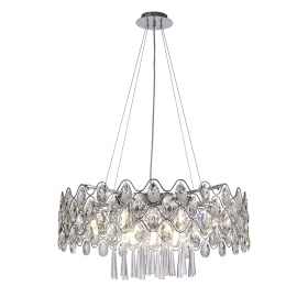 Kenzie Crystal Ceiling Lights Diyas Modern Crystal Ceiling Lights