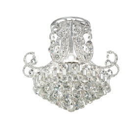 Pearl Crystal Ceiling Lights Diyas Modern Chandeliers