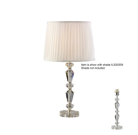Renee Crystal Table Lamps Diyas Contemporary Crystal Table Lamps