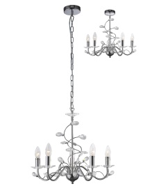 Willow Crystal Ceiling Lights Diyas Contemporary Crystal Ceiling Lights