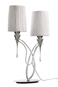 Lucca Crystal Table Lamps Mantra Contemporary Crystal Table Lamps