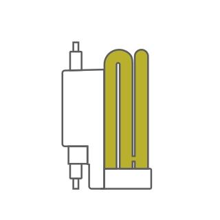 Extra Mini Sup Spiral Compact Fluorescent Luxram Spiral & U-Tube