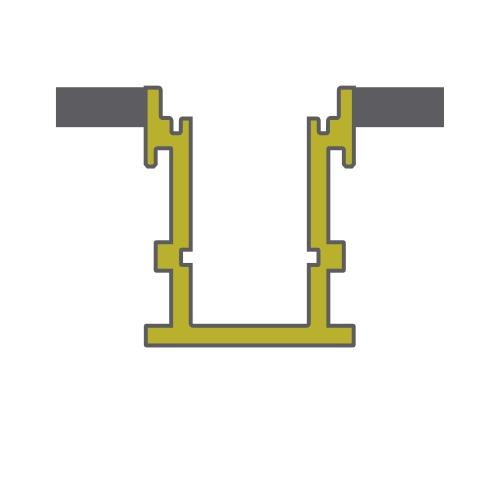 Lin 1616C Profiles Dlux Aluminium Profile
