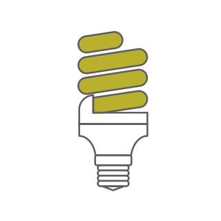 Extra Mini Supreme Compact Fluorescent Luxram Spiral & U-Tube